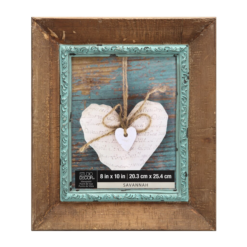Wood frame with blue fillet 8 x 10 savannah by studio Michaels home decor