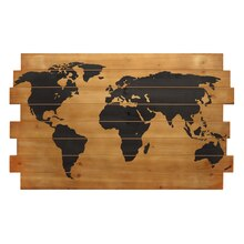 Studio Décor Viewpoint Heritage Home Map on Wood Planks