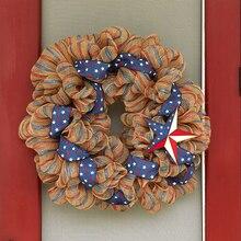 Star Embellished Mesh Wreath