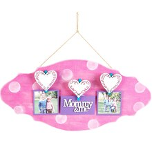 """Mommy & me"" Wood Photo Plaque"