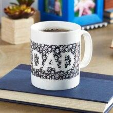 "Black and White Doodle ""Dad"" Ceramic Mug"