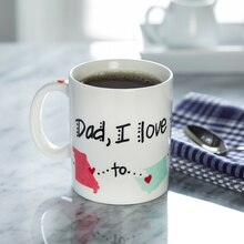 Father's Day From Here to There Ceramic Mug
