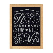 Loops & Threads Counted Cross Stitch Kit, Home is with You