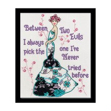 Loops & Threads Two Evils Counted Cross Stitch Kit