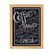 Loops & Threads Counted Cross Stitch Kit, Coffee