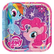 "9"" Square My Little Pony Dinner Plates, 8ct, medium"