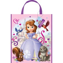 "Large Plastic Sofia the First Favor Bag, 13"" x 11"", medium"