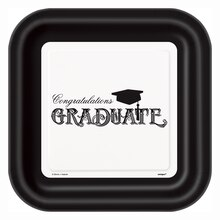 "9"" Square Classic Graduation Dinner Plates, 8ct"
