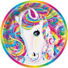 "7"" Rainbow Majesty® by Lisa Frank Dessert Plates, 8ct, medium"