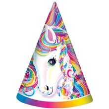 Rainbow Majesty® by Lisa Frank Party Hats, 8ct, medium