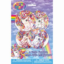 Rainbow Majesty® by Lisa Frank Party Mazes, 4ct, medium