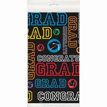 "Plastic Graduation Party Table Cover, 84"" x 54"""