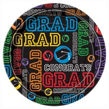 "7"" Graduation Party Dessert Plates, 8ct"