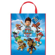 "Large Plastic PAW Patrol Favor Bag, 13"" x 11"""