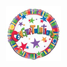Foil Star Congratulations Balloon, 18""