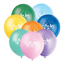 "12"" Latex Congrats Balloons, 6ct"