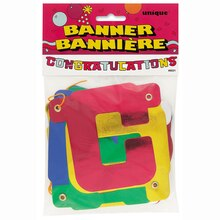 Congratulations Letter Banner, 6.5 Ft., medium