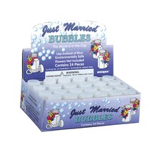 Just Married Wedding Bubbles, 24ct