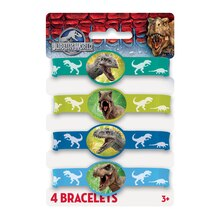 Jurassic World Rubber Bracelets, 4ct