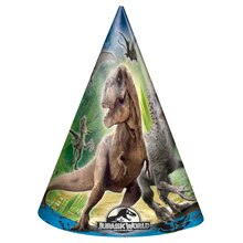 Jurassic World Party Hats, 8ct
