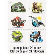 Jurassic World Tattoo Sheets, 4ct