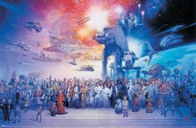 Trends International Star Wars Poster, Galaxy