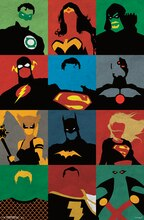 Trends International Justice League Poster, Minimalist Grid