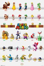 Trends International Super Mario Poster, Character Grid