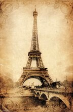 Trends International Rustic Eiffel Tower Poster