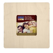 "ArtMinds Unfinished Wood Frame 6 Pack, 3.7"" x 3.7"""