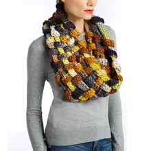 Isaac Mizrahi® CRAFT™ Sutton Crochet Woven Plaid Cowl, medium