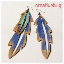 Cricut® Feather Earrings, medium