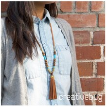 Leather Tassel Necklace, medium