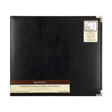 Recollections Leather D-Ring Scrapbook Album, Black