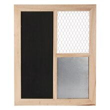 ArtMinds Chicken Wire Frame with Chalkboard & Metal Memo Board