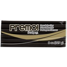 Premo! Sculpey Oven Bake Clay, 8oz Black