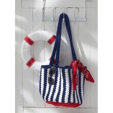 Nautical Crochet Tote