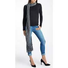 Isaac Mizrahi® Craft™ West Village Striped Knit Scarf
