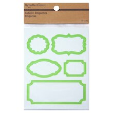 Recollections Craft It Bordered Labels, Green