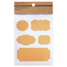 Recollections Craft It Bordered Labels, Kraft