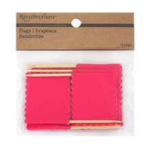 Recollections Craft It Scalloped Flags, Fuchsia