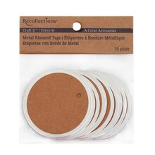 Recollections Craft It Large Metal Rimmed Tags, Kraft