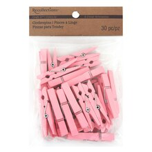 Recollections Craft It Medium Clothespins, Pink