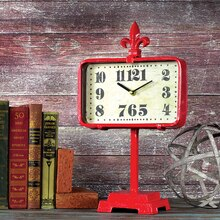 clock painted with red Americana Decor Maxx Gloss paint