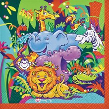 Smiling Safari Beverage Napkins, 16ct