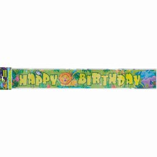 Foil Smiling Safari Birthday Banner, 12 Ft.