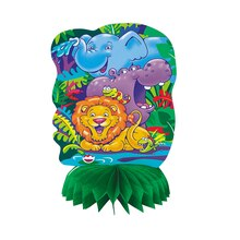 "Mini 6"" Honeycomb Smiling Safari Decorations, 4ct"