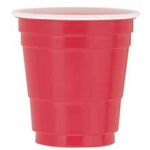 Red Plastic Shot Glass