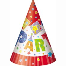 Party Style Party Hats, 8ct