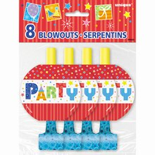 Party Style Party Blowers, 8ct